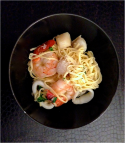 Seafood Pasta in White Wine Sauce
