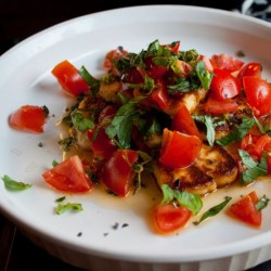 Seared Halloumi Salad