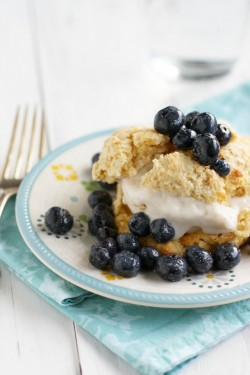 Simple Blueberry Shortcakes