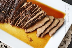Slow Cooker Roast with Brandy Sauce