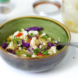 Spicy Live Cauliflower Salad