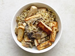 Stir Fried Tofu Bean Sprouts and Oyster Mushrooms Recipe