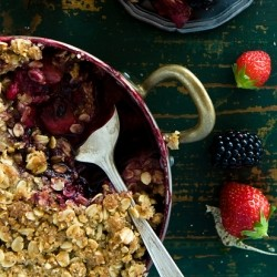 Stone Fruit and Berry Crumble