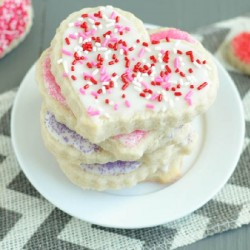 Sugar Cookies with Almond Frosting
