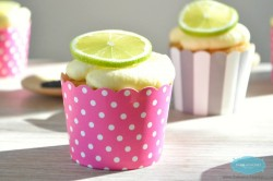 Sugar-Free Lime Poppy Seeds Cupcake