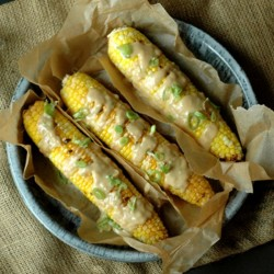 Sweet Corn with Cheddar Beer Sauce