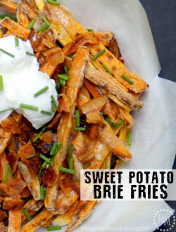 Sweet Potato Brie Fries