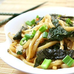 Udon Choy Sum Stir Fry in 15 Minutes