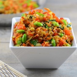 "Vegan Quinoa Fried ""Rice"""