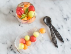 Vodka-Infused Melon Balls
