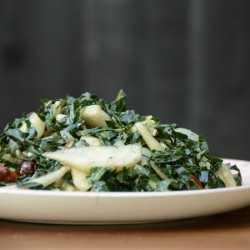 Warm Kale Salad with Pear