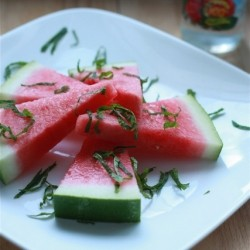 Watermelon with Mint and Rosewater
