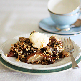 Winter Fruit Chocolate Crumble