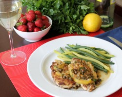 Almond Flax Crusted Chicken Piccata Recipe