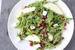 Arugula Salad, Pear and Goat Cheese