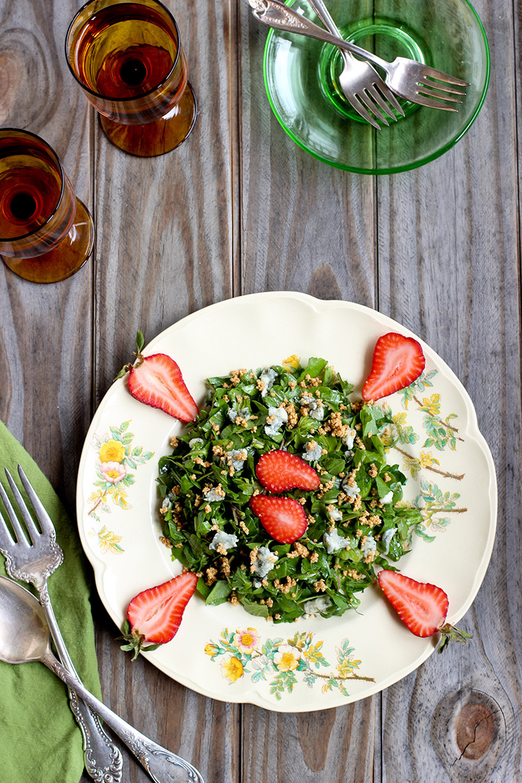 Arugula Strawberry Hazelnut Salad