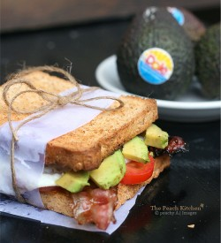 Avocado Candied Bacon Fried Egg Sandwich