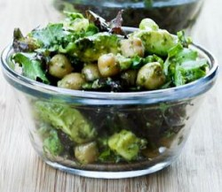 Avocado Chickpea Salad with Pesto