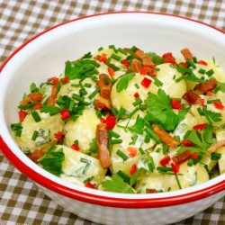 Baby Potato Salad with Herbs/Bacon