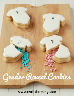 Baby Shower Gender Reveal Cookies