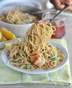 Bacon Shrimp Scampi