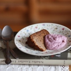 Banana Almond Cake Recipe with Strawberry Cashew Creme
