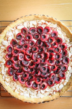 Bing Cherry Goat Cheese Tart