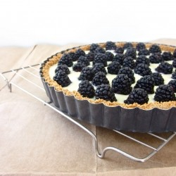 Blackberry White Chocolate Ganache Tart