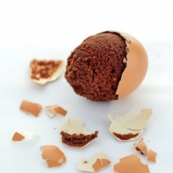 Brownies Baked in Eggshells