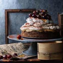Cherry Caramel Chestnut Mousse Cake Recipe
