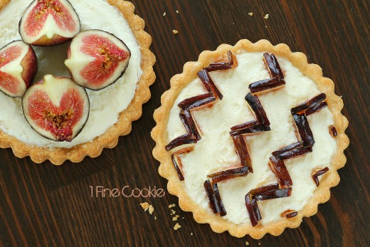 Chevron Pattern Fig Tart.
