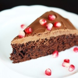 Chocolate Cake w/ Pomegranate
