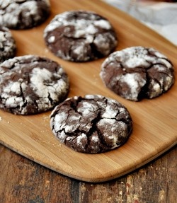Chocolate Olive Oil Crinkle Cookies