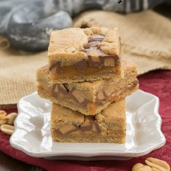 Chocolate PB Caramel Bars
