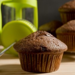 Chocolate Peanut Butter Coffee Muffins Recipe