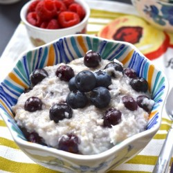 Coconut Blueberry Oatmeal