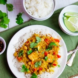 Coconut Red Curry Lentils Recipe