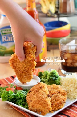 Crispy Buffalo Ranch Chicken Strips
