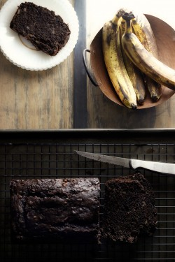 Dark as Sin Chocolate Banana Bread