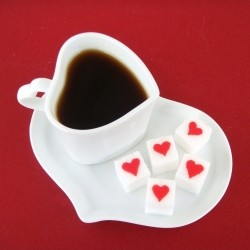 Decorated Sugar Cubes: Sweet Hearts