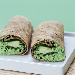 Edamame Vegetable Wrap Recipe