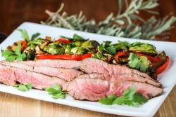 Flank Steak and Brussels Sprouts
