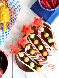 Fourth of July Fruit Wands