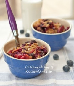 Fresh Blueberry Apple Crumble Recipe