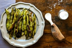 Garlicky Roasted Fava Beans