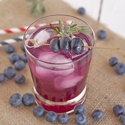 Gin Cocktail with Homemade Blueberry Lavender Syrup Recipe