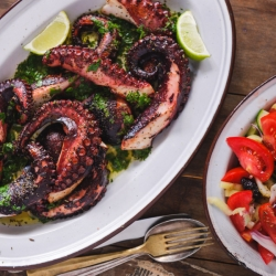 Greek Style Grilled Octopus Recipe