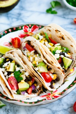 Grilled Corn and Black Bean Tacos