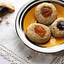 Hazelnut Rosemary Jam Cookies