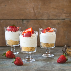 Individual No-Bake Cheesecake